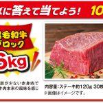 【ハガキ応募】10名様★味の素「国産黒毛和牛 ももブロック(3.6kg)」