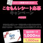 【クローズド懸賞】【ネット懸賞】1,000名様★日清フーズ「QUOカード 1,000円分」