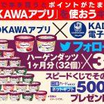 【Twitter懸賞】23名様★KADOKAWA「ハーゲンダッツ1ヶ月分(32個)、図書カードNEXTネットギフト 500円分」